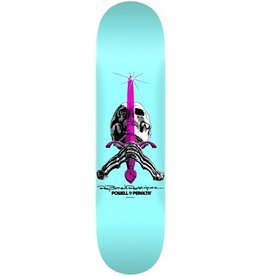 Powell Peralta Powell Peralta- Skull and Sword- 8 x 31.45 in- 242- Pastel Blue- Deck