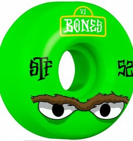Bones Bones- Mean Greens- 52mm- V1 Shape- Street Tech Formula- Wheels