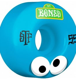 Bones Bones- Googly Blues- 55mm- V4 Shape- Street Tech Formula- Wheels