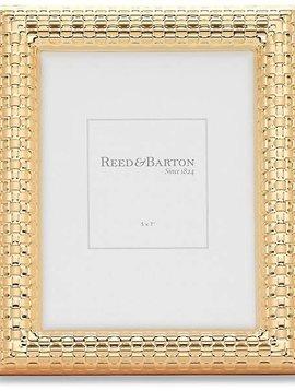 Reed & Barton Watchband Satin Gold 5x7 Frame