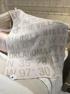 VC HOME Baby Throw Blanket Milk/Flax 30x40