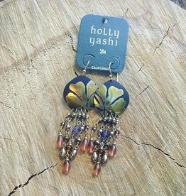 Holly Yashi Daylily Drop Earrings - Brown/Peach