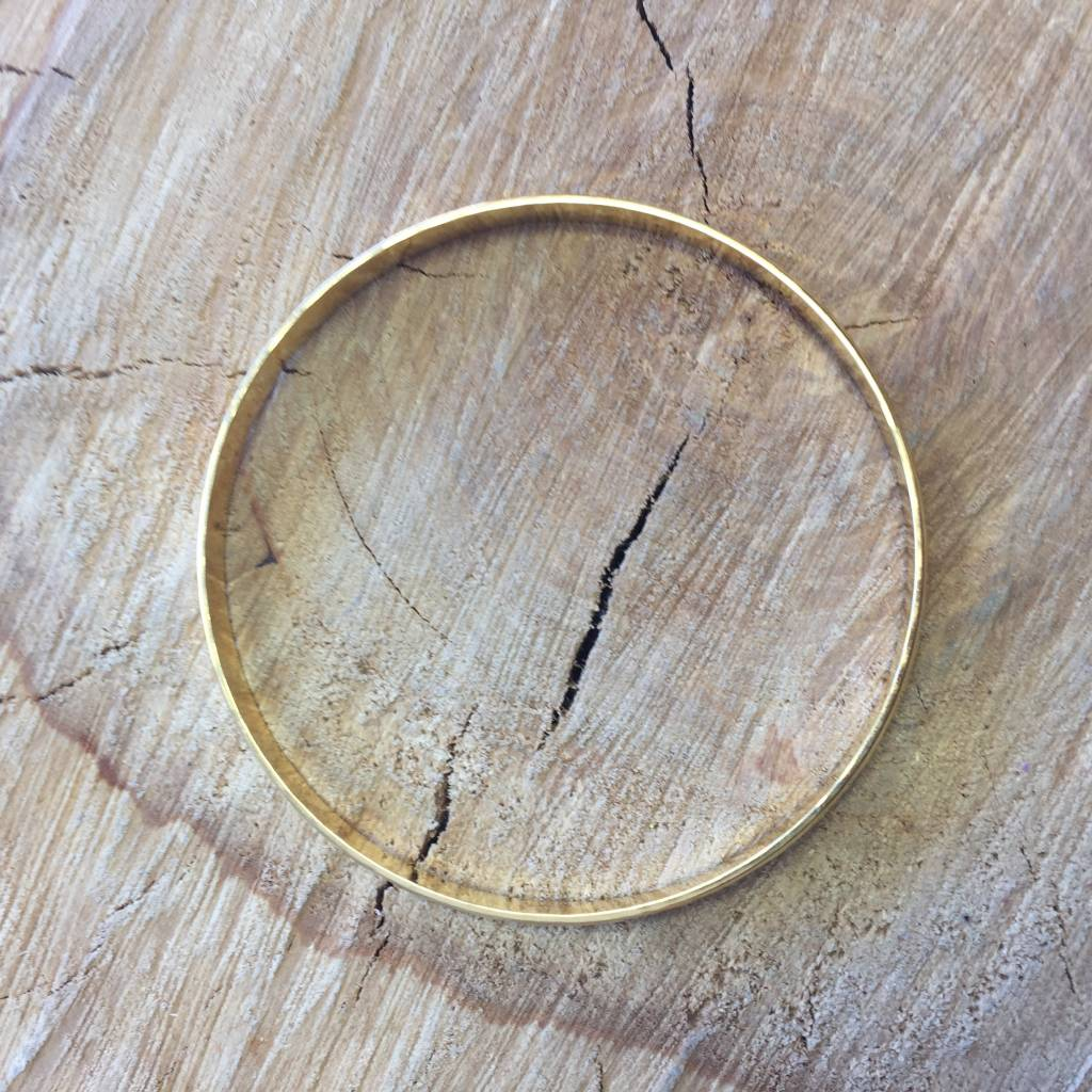 Shiny Gold Everyday Bangle