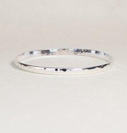 Shiny silver everyday bangle