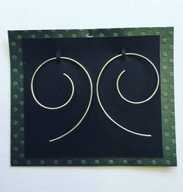 Sterling Round Wire Earrings