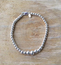 Graduated Sterling Silver Ball Bracelet