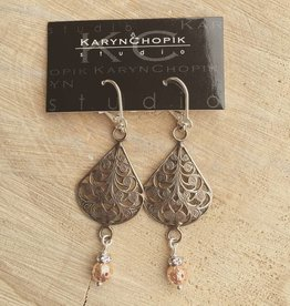 Karyn Chopik Bronze Filigree w Copper Drop