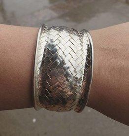 M Style Large Concave Woven Cuff Bracelet
