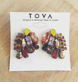 Tova Multi-Coloured Crystal Earrings