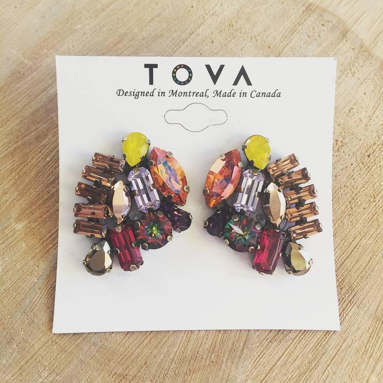 Tova Multi-Coloured Crystal Earrings