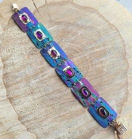 Holly Yashi Turquoise/Orchid Fusion Bracelet