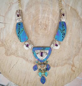 Holly Yashi Turquoise/Amethyst Farrah Necklace