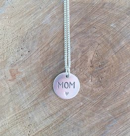 Valerie Davidson Sterling MOM pendant on 18' chain
