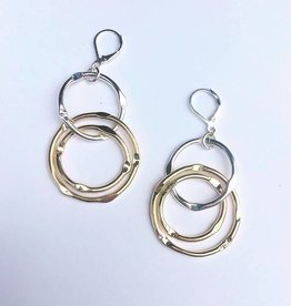 Karyn Chopik Brass and Sterling Earring