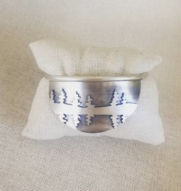 Olive Cedar Pine Tree Reflection Cuff