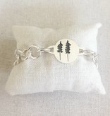 Sterling Bracelet with 2 Trees