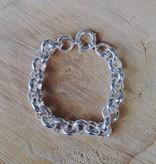 Silver Rolo Link Chain Bracelet