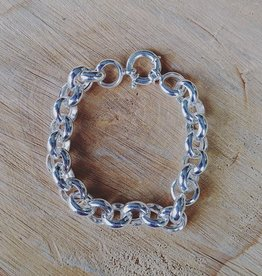 House of Jewellery Silver Rolo Link Chain Bracelet