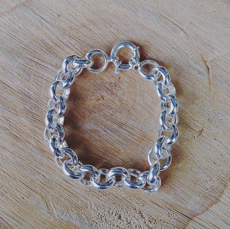 House of Jewellery Silver Rolo Link Chain Bracelet