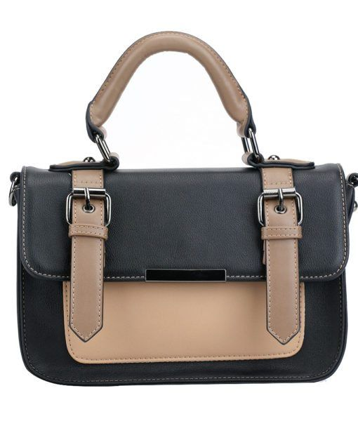 Pixie Mood Mini Steph Bag- Black and Tan