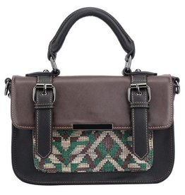 Pixie Mood Mini Steph Bag- Green and Brown Woven