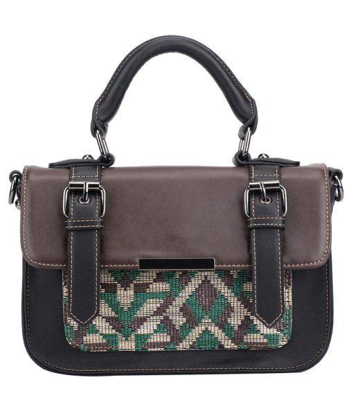 Pixie Mood Mini Steph Bag- Green and Brown Woven