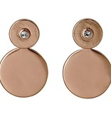 Pilgrim Pilgrim Rose Gold Plated Ear Jacket With Crystal