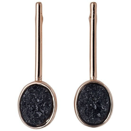 Pilgrim Pilgrim Rose Gold Plated Druzy Stick Stud