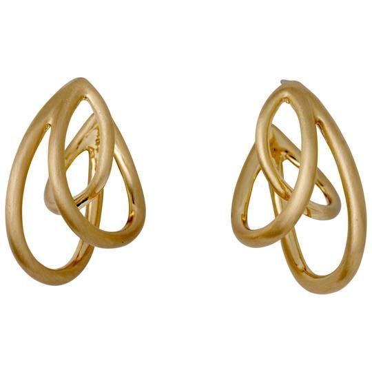 """Pilgrim Pilgrim Gold Plated """"Autumn"""" Earrings"""
