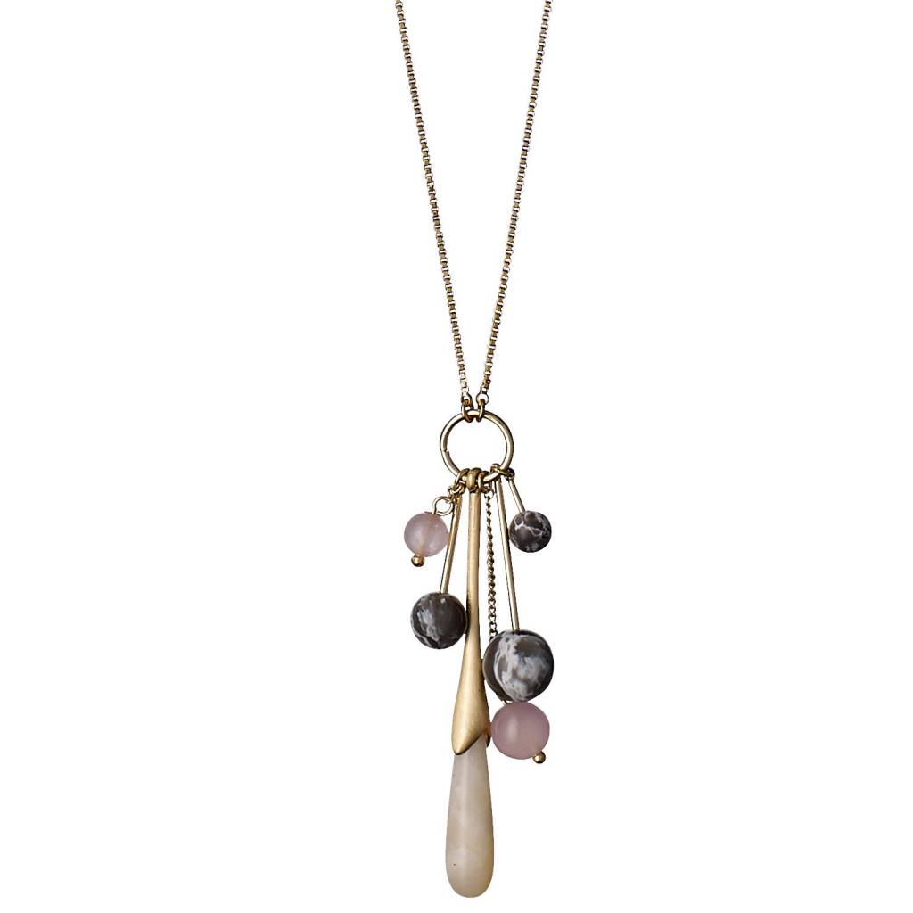 of semi stone precious img product six strands gems and necklace