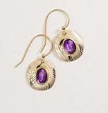 Holly Yashi Synergy Earrings: Amethyst & Gold