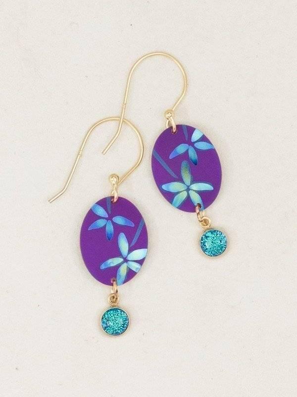 Holly Yashi Holly Yashi Firelight Earrings: Purple
