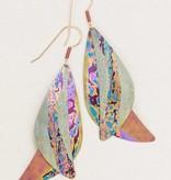 Holly Yashi Holly Yashi Ocean Song Earrings: Sage/Peach