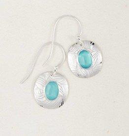 Holly Yashi Synergy Earrings: Aqua  & Silver