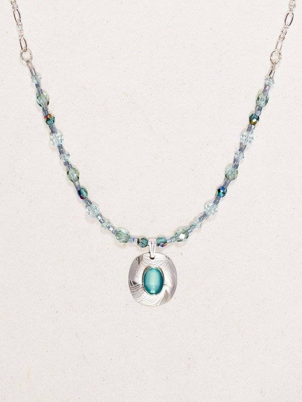 Holly Yashi Synergy Necklace: Aqua & Silver
