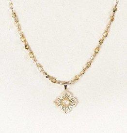 Holly Yashi Rainbow Moonstone Gold Bella Flora Necklace