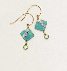 Holly Yashi Teal Montage Earrings