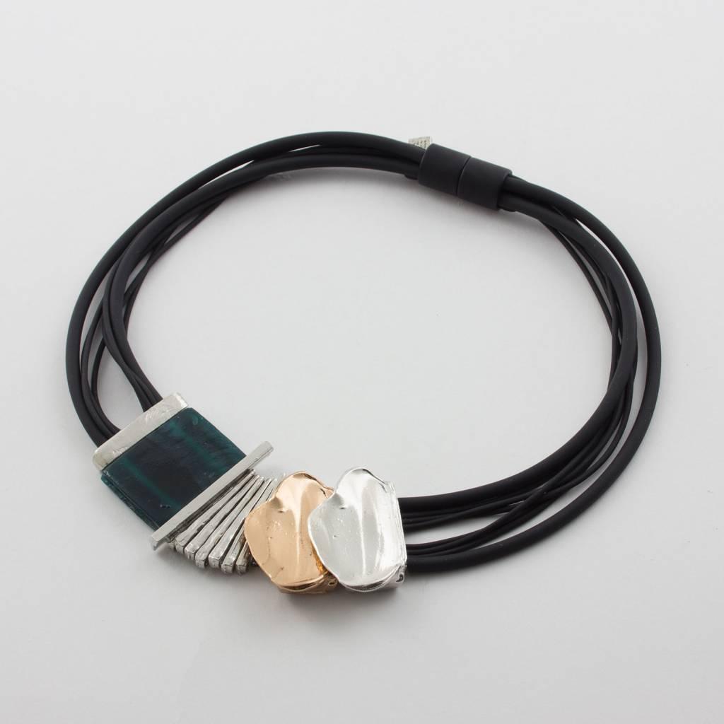 Anne Marie Chagnon Reza Teal Necklace