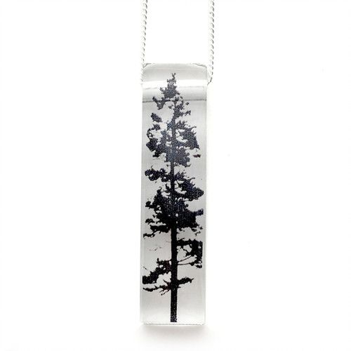 Black Drop Designs Black Drop Necklace Single Tree