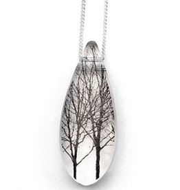 Black Drop Designs Black Drop Necklace Twin Trees