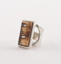 Anne Marie Chagnon Walnut Peony Ring