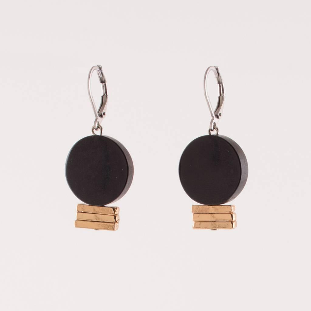 Anne Marie Chagnon Black Nemesia Earring