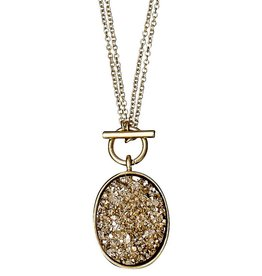 Pilgrim Gold Druzy Aileas Necklace