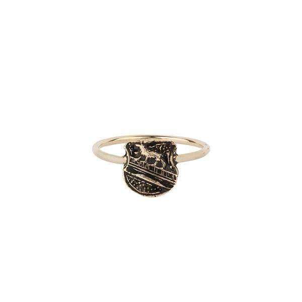 Pyrrha Pyrrha- 14kt Gold Heart Of The Wolf Ring