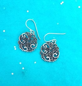 dsa Silver Filigree Circle Earring