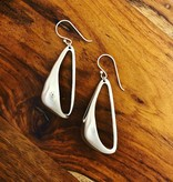dsa Silver Triangle Loop Earring