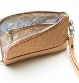 Pixie Mood Cameron Wristlet - Smokey Blue & Cork