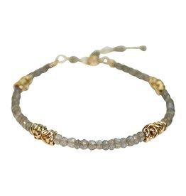 Dianne Rodger Labradorite Gold Twist Bracelet