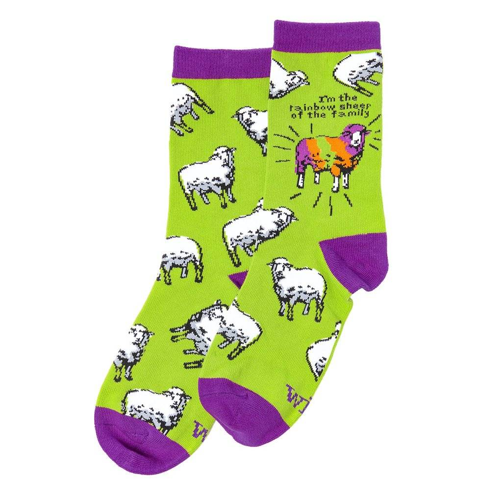 Rainbow Sheep - WIT! Socks
