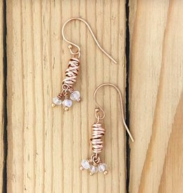 Dianne Rodger Dianne Rodgers Rose Gold Moonstone Earring